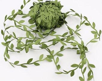 Green Leaf Ribbon Vines Ribbon Leaf trim Packaging Ribbon Gift Ribbon Embellish leaves Gift Wrap Supply Wedding Supplies Scrapbooking