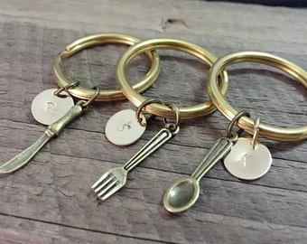 One set / Best friend keychain for 3, personalized best friend gift for friends, initials gift, best friend, mens gift, best friend