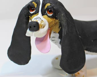 Bespoke figurine dog sculpture of your own dog from photographs - Made to order