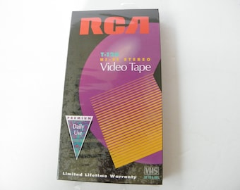 RCA T-120 Hi-Fi Stereo BLANK VHS Tape New Sealed in package