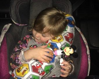 Paw Patrol Seat belt Pillow, Seat Belt Pillow, Travel Pillow, Booster Seat Pillow