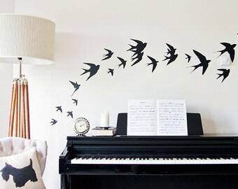 Flying birds Vinyl Wall Stickers Swallows