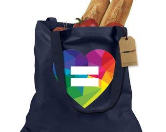 Love Wins Heart Shopping Tote Bag