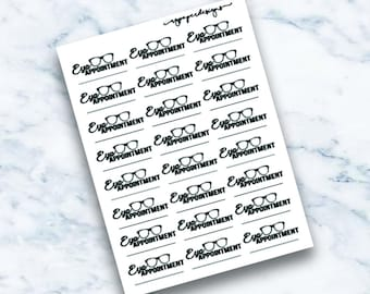 Eye Appointment   Planner Stickers   ECLP   Happy Planner   Personal Planner