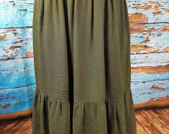 70s pinstripe skirt.