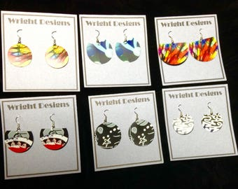Set of 6 of my new rubber earrings..FREE SHIPPING