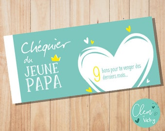 Dad, customizable {to print you even} checkbook
