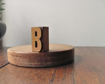 Vintage Letter B Printers Block B Letterpress Initial Alphabet Letter B Wood Type Printing Stamp B Name Graphics Home Decor Collection Art