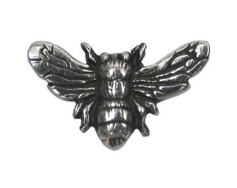 Danforth Bee 3/4 inch ( 18 mm ) Pewter Shank Button