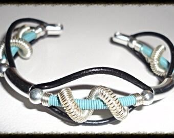 Spiral Leather Bracelet