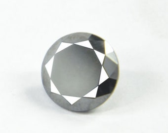 2.60Ct Natural Wonderful Round Cut Z Black Moissanite Gemstone AO113