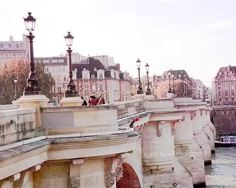 Paris Photography, Pont Neuf Bridge, River Seine, Paris Romantic Bridge Photos, Paris French Decor, Paris Wall Art, Paris Fine Art Prints