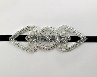 Great Gatsby Headpiece, 1920s Bridal Accessory, Great Gatsby Headband, 1920s Headband, Roaring 20's Hen Party, Daisy Buchanan Hairpiece,