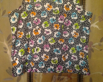 1980s floral sleeveless top