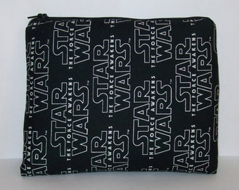 "Pipe Pouch, Star Wars Bag, Pipe Case, Pipe Bag, Padded Pipe Pouch, Gadget Bag, The Force Awakens, Padded Zipper Bag, 7.5"" x 6"" - X LARGE"