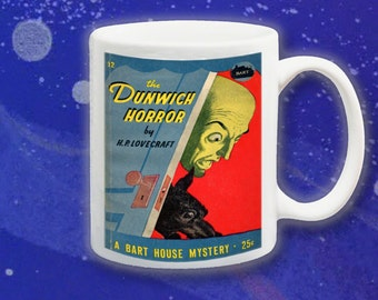 The Dunwich Horror: Funny sci-fi sleaze science fiction pulp fiction book cover mug