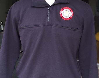 Firefighter Job Shirt 1/4 zip - Free Shipping
