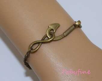 fishhooks bracelet, infinity bracelet, hope fishhook,I'm hooked on you.