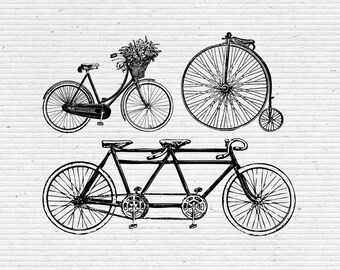 Vintage Bicycles Graphic Illustration, Image and Vector in jpg, png, pdf, eps and ai Format