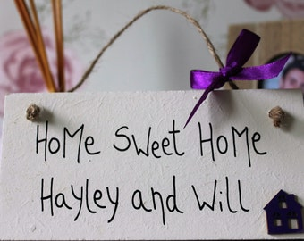 New Home Housewarming Gift - New Home Sign - Love Lives Here - First Home Gift - home sweet home sign - Our Home Gift - Our home