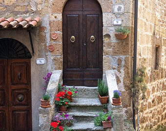 Tuscan Charm Tuscany Italy Rustic Flowers Plants Window Door & Tuscan door art   Etsy