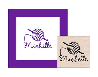 Crochet Personalized Rubber Stamp