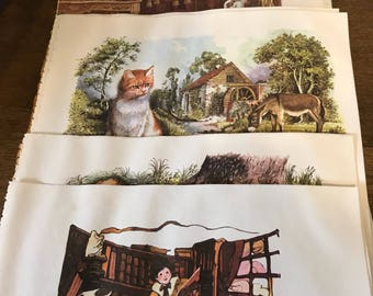 Fairytale Storybook Pages For Crafts Vintage Patena Scrapbooking Collage Mixed Media Vintage Lot of 15