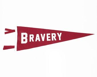 "Wall Pennant Decor Hanging ""Bravery"""
