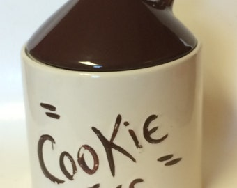 Vintage Brown Jug  Cookie Jar       Hull Pottery  circa 1950's