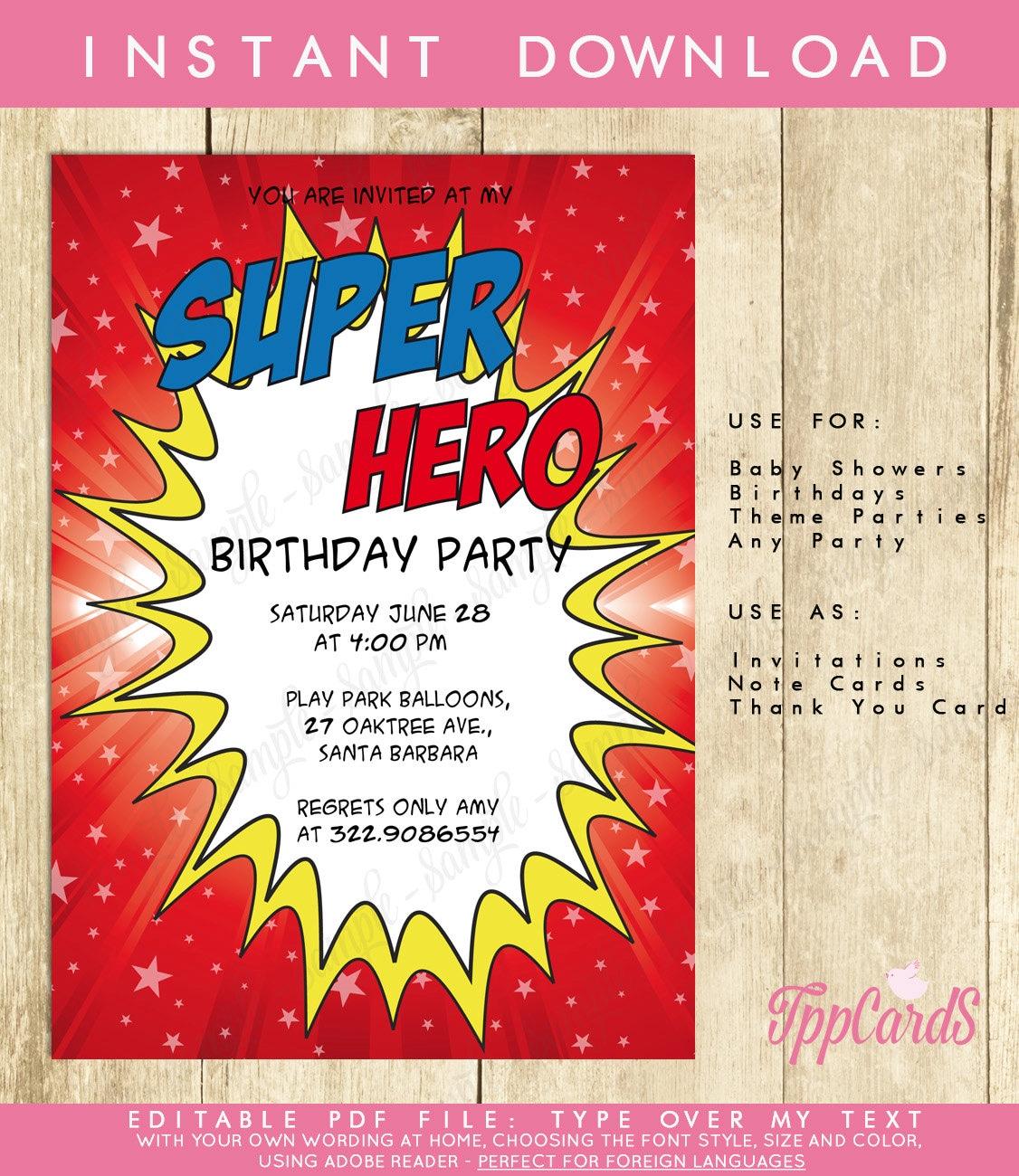 Perfect Birthday Invitation Pdf Frieze - Invitations and ...