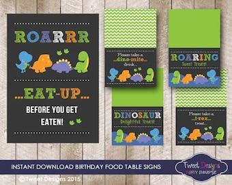 DINOSAUR Food Labels, DINOSAUR Food Signs, DINOSAUR Party Printable, Dinosaur Buffet labels, Instant download Dinosaur Party, Dinosaur