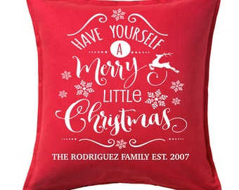 Holiday Pillow - Personalized Holiday Decor | Custom Throw Pillow | Christmas Decor | Holiday Decor | Christmas Pillows
