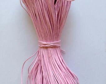 1mm Pink Cotton Waxed Cord Size 1mm Length 100yds per bundle