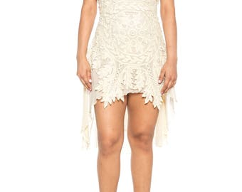 Morphew Lab Ivory Lace Dress Size: 6