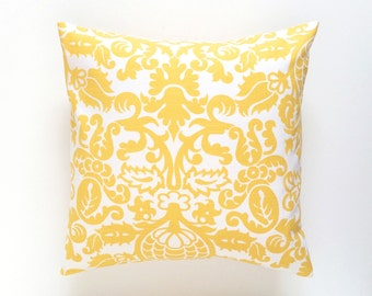 Clearance 50% OFF Corn Yellow Amsterdam Decorative Pillow Cover. Pick a Size. Throw Pillow Cover. Corn Yellow Cushion. Floral