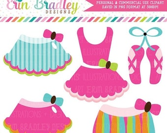 80% OFF SALE Rainbow Ballerina Tutus Clipart Commercial Use Clip Art Graphics Instant Download