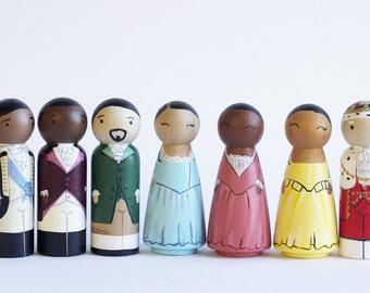 Hamilton Peg Dolls//Hamilton Musical//Hamilton Figures