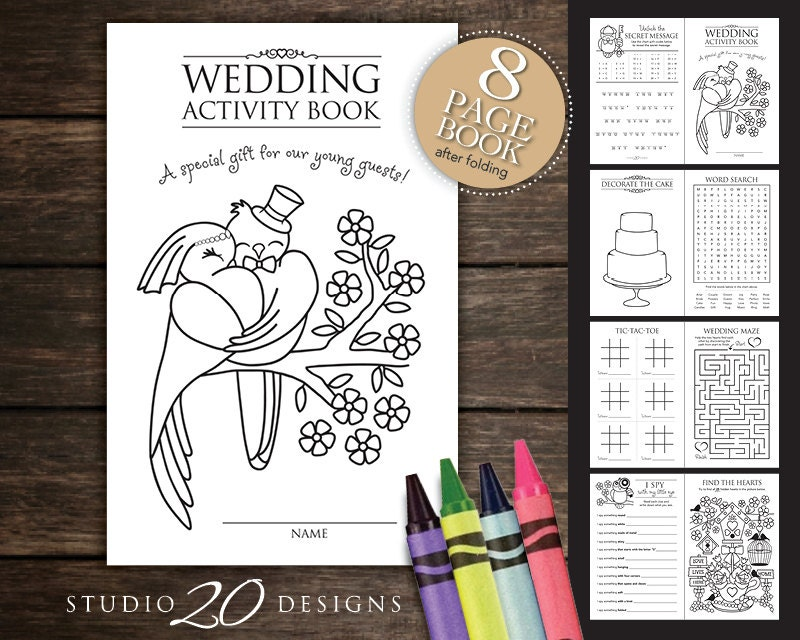 It is an image of Exceptional Printable Wedding Activity Book
