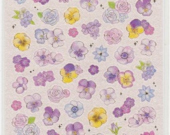 Pretty Flower Stickers - Mind Wave Stickers - Reference A6375-76A6519-20