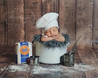 Newborn Baby, Chef Hat, Custom Made to Order