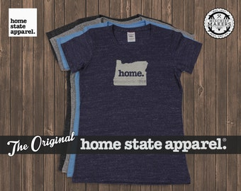 Oregon Home. T-shirt- Womens Cut