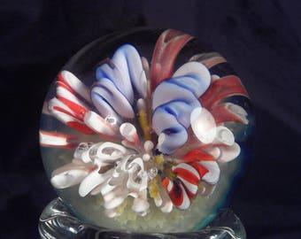 1.6 inch borosilicate glass reef marble