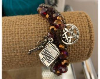Sam Winchester inspired triple strand bracelet