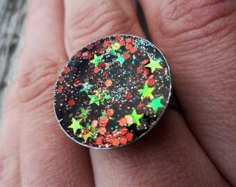 Faerie Maiden - Resin & Glitter Ring