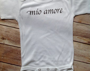 Mio Amore Baby One Piece (Custom Colors/Wording)