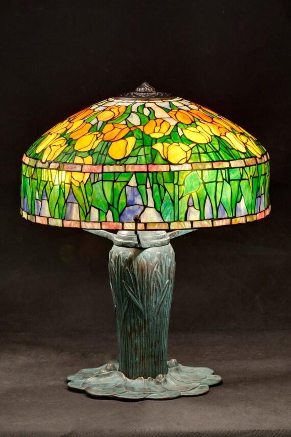 Lampe tulipe lampe vitrail Lampe Tiffany lampe de Table