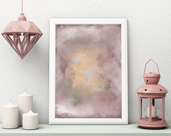Rose Gold Poster, Rose Gold Abstract Art, Marble Painting, Rose Gold Art, Art Print, Pink Abstract, Rose Gold Poster