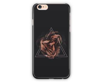 Black Triangle Rose White Phone Case for iPhone 8 / iPhone 7 / 7Plus, iPhone 6/6Plus iPhone5 Samsung Galaxy S7/7 edge / S6 / S6 edge/S5