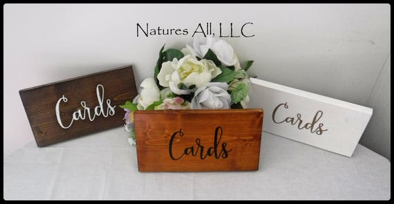 Rustic Wedding Sign/Cards Wedding Sign/Rustic Wood Wedding Sign/Wood Sign For Card Table/Rustic Reception Sign/Hand Painted Wedding Sign