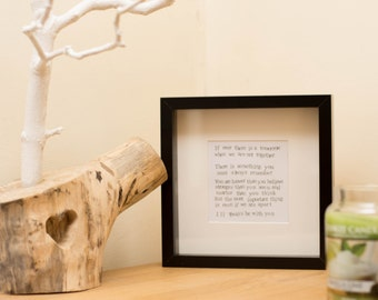 Cute Winnie the Pooh quote Frame! Perfect as a gift, for a child's room, for a friend.